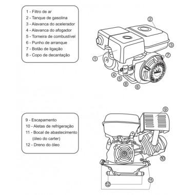 Motor estacionário a gasolina 5.5