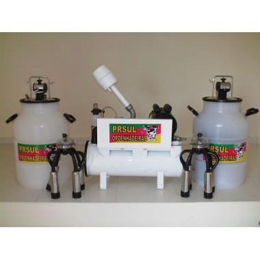 Ordenhadeira fixa com 2 conjuntos com capacidade para ordenhar até 6 vacas ao mesmo tempo com Bv 700 lt