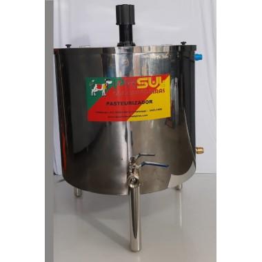 Pasteurizador e processador com tampa 500 lt para leite e queijos modelo circular