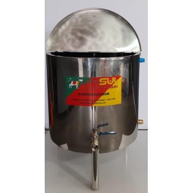 Pasteurizador e processador 300 lt de leite- Elétrico e com Moto agitador automático