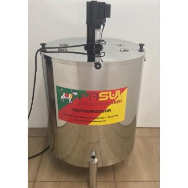 Pasteurizador de 100 lt modelo circular, elétrico, com moto agitador automatico para Molhos