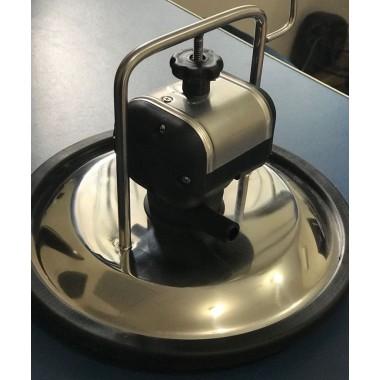 Kit de Tampa do Tarro 1 entrada de inox com junta + Pulsador Pneumático