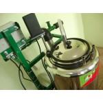 Ordenhadeira com 3 conjuntos com capacidade de expansão para até 4 vacas com transferidor do leite em inox 304 de 40 lt (Bomba de vácuo 500 lt)