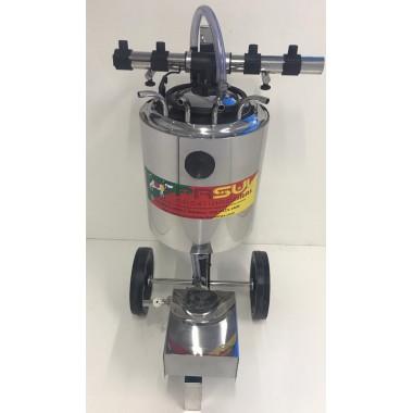 Transferidor do leite de 40 lt com carrinho em inox