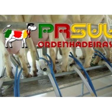 Ordenhadeira com 3 conjuntos com capacidade para expandir até 6 Cabras- Máquina com Transferidor