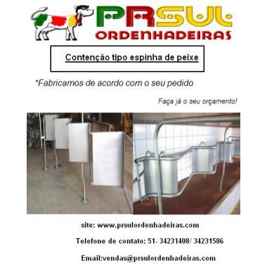 Contenção Espinha de peixe 2x2 (2 vacas de cada lado)