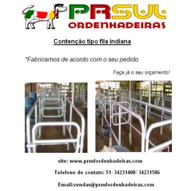 Contenção Fila indiana 2x2 (2 vacas de cada lado)