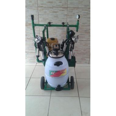 Ordenha móvel com 1 conjunto duplo com motor a gasolina (ordenha 2 vacas ao mesmo tempo)