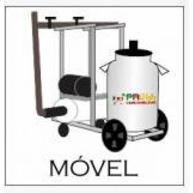 Ordenha móvel com 1 conjunto com motor a gasolina